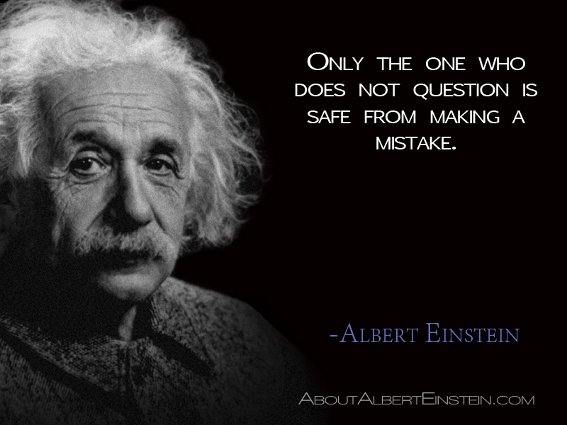 Einstein picture with quote
